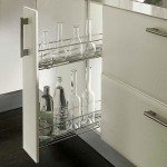 Chrome Pull Out Unit 150mm With Two Baskets L/H - Chrome Pull Out Unit 150mm With Two Baskets L/H