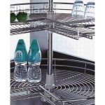 ¾  Chrome carousel heavy gauge wirework - ¾ Chrome carousel heavy gauge wirework 900 x 900mm