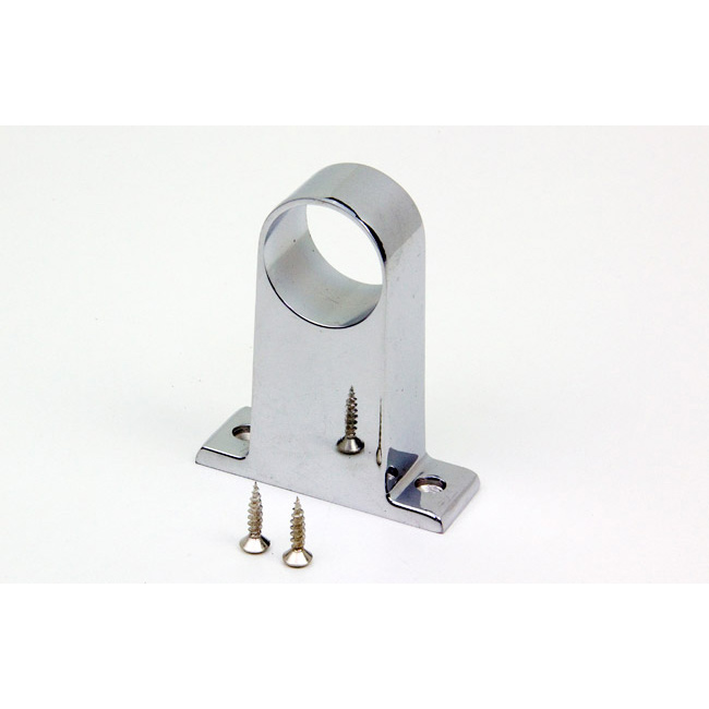 Round Wardrobe Rail 32mm Centre Support Chrome