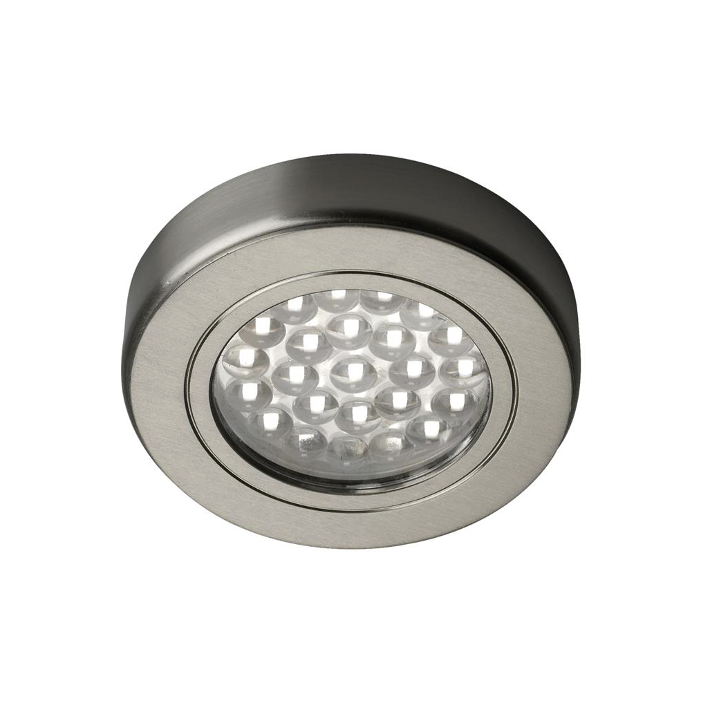 Hype hd led surface recessed light warm white stainless steel