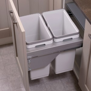 Ace Pull out waste bin to suit 450mm cabinet 2 x 30L