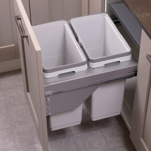 Ace Pull out waste bin to suit 500mm cabinet 2 x 30L