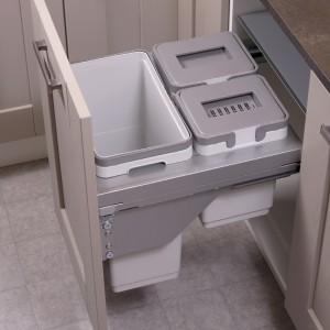 Ace Pull out waste bin to suit 500mm cabinet 1 x 30L 1 x 10L 1 x 9L